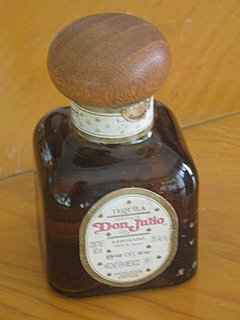 Don Julio reposado tequila bottle