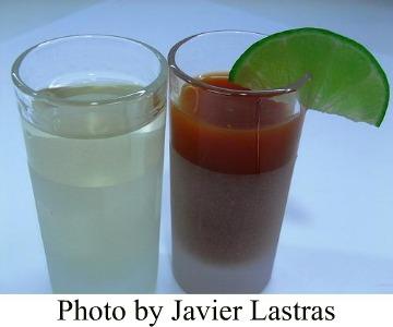 Sangrita in a glass