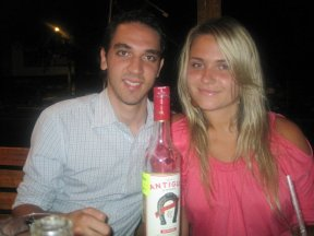 Tequila Herradura bottle with friends
