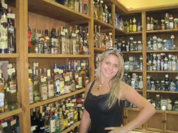 Girl at a tequila store